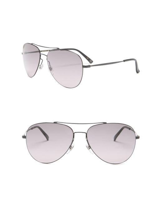 37fd942107c Gucci - Gray 59mm Aviator Sunglasses for Men - Lyst ...