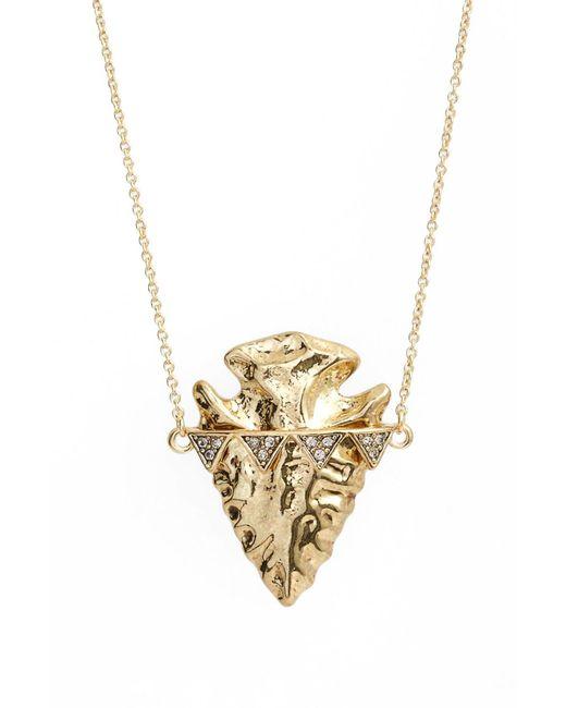 House of Harlow 1960 - Metallic Arrowhead Pendant Necklace - Lyst