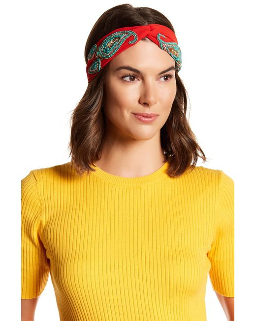 Cara | Multicolor Beaded Knotted Headband | Lyst