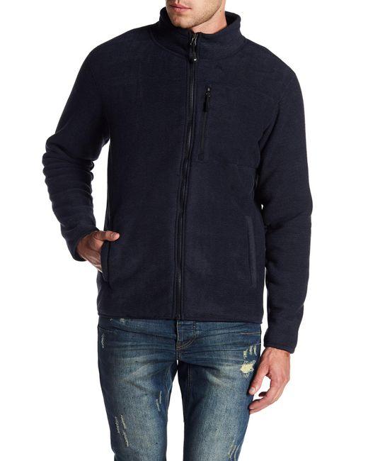 Weatherproof   Blue Stripe Fleece Jacket for Men   Lyst