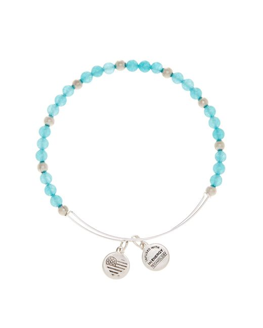 ALEX AND ANI | Metallic Color Classics Breeze Beaded Extendable Wire Bangle | Lyst