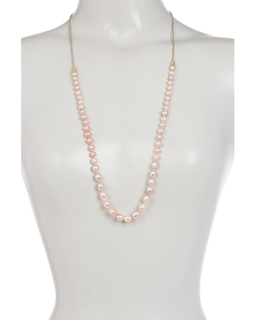 Cole Haan - Multicolor Graduated 6mm - 11mm Freshwater Pearl Necklace - Lyst