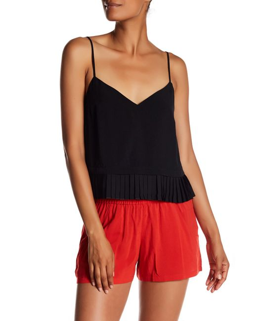 French Connection | Black Polly Plains Tank | Lyst