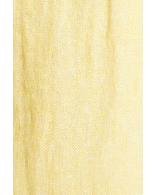 d5619fbb1e Lyst - Joie Filma Back Cutout Linen Wrap Dress in Yellow - Save 81%