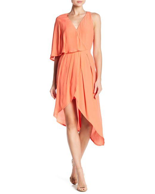 Elliatt - Orange Glow One-shoulder Dress - Lyst