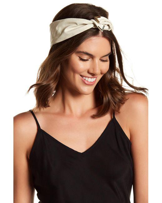Cara | White Twist Detail Headwrap | Lyst