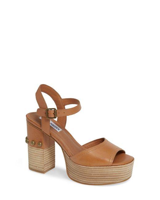 8f405bc998b9 Lyst - Steve Madden Tame Platform Sandal in Brown - Save 61%