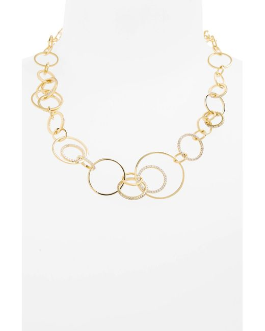 Melinda Maria - Metallic Sarah Cubic Zirconia Collar Necklace - Lyst