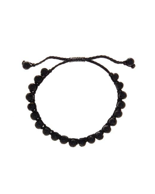 Link Up   Black Lava Rock Beaded Cord Bracelet   Lyst