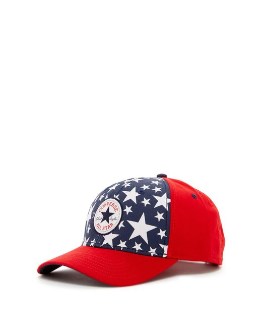 Converse | Red Snapback Cap for Men | Lyst