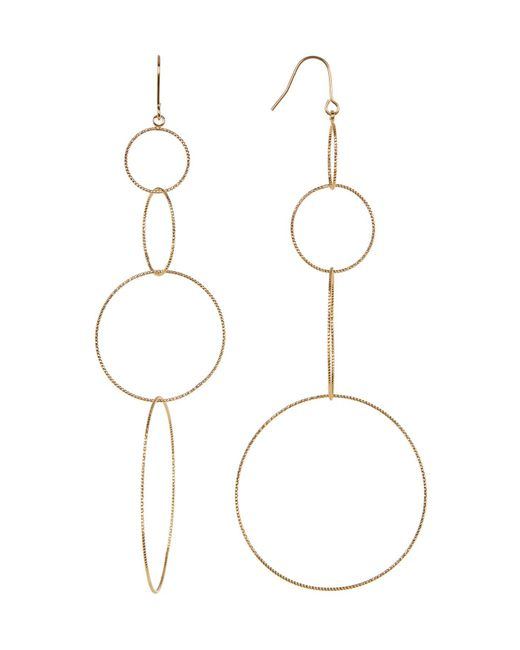 Panacea | Metallic Textured Multi Hoop Drop Earrings | Lyst