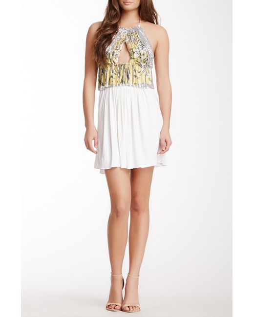 Sky - White Rotan Halter Tunic Dress - Lyst