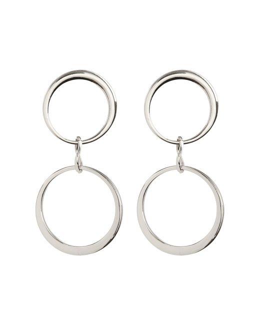 Vince Camuto - Metallic Double Hoop Drop Earrings - Lyst