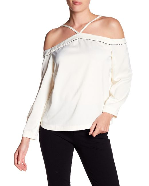 Cooper & Ella - White Joline Cold Shoulder Blouse - Lyst
