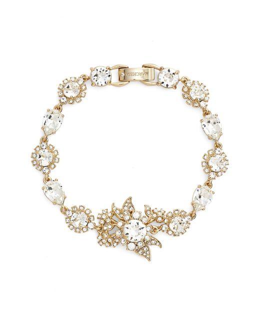 Marchesa | Metallic Goldtone White Metal Cluster Bracelet | Lyst