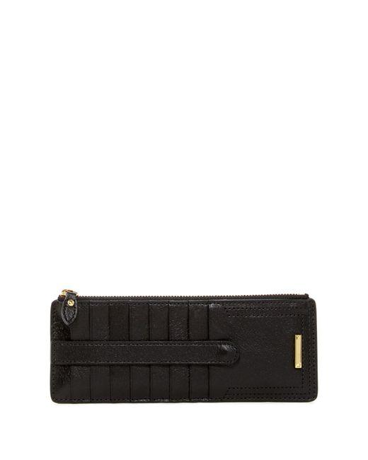 Lodis | Black Steph Lock & Key Leather Credit Card Case & Zip Pocket | Lyst