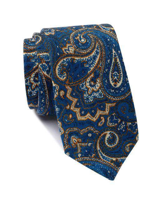 Ben Sherman | Blue Vesta Paisley Wool Tie for Men | Lyst