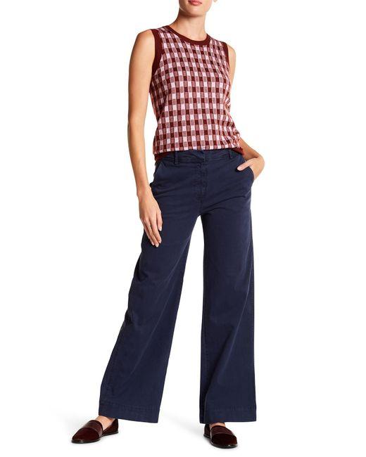 J.Crew - Blue Tailored Wide Leg Chino Pants - Lyst