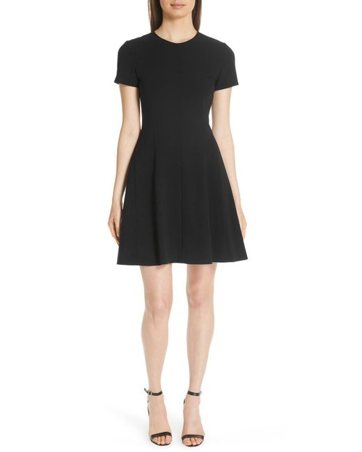 Theory - Black Modern Seamed Dress - Lyst