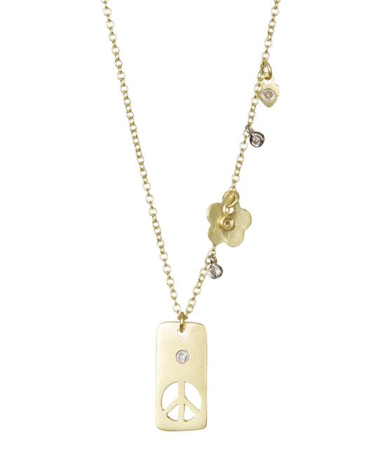 Meira T - Metallic Yellow Gold Peace Necklace - Lyst