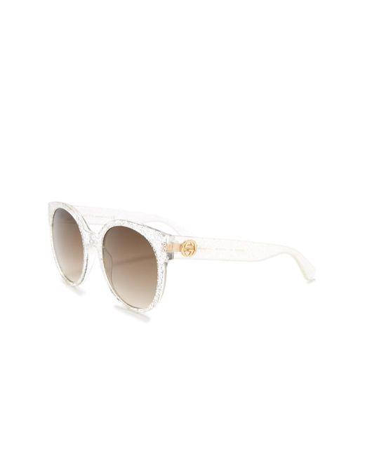 99dbdb9d286 ... Gucci - Metallic Glitter 54mm Sunglasses - Lyst