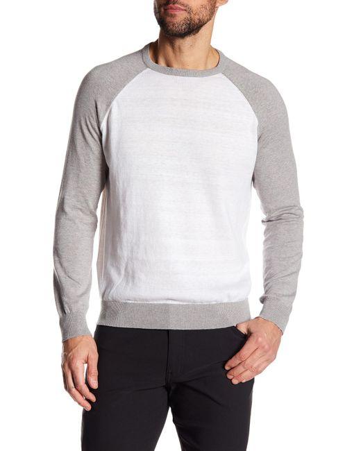 Tocco Toscano - White Long Raglan Sleeve Colorblock Crew Neck Sweatshirt for Men - Lyst