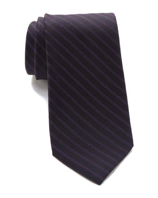 Calvin Klein - Blue Cloud Stripe Tie for Men - Lyst