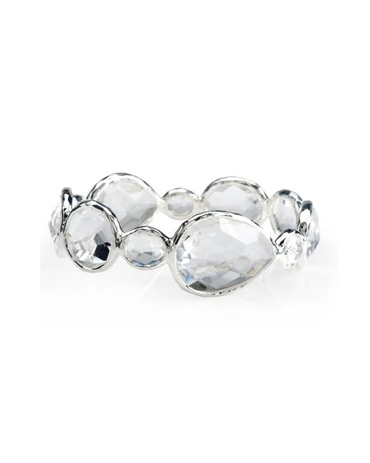 Ippolita - Metallic Rock Candy Sterling Silver Bezel Set Clear Quartz Multi Cut Band Ring - Lyst