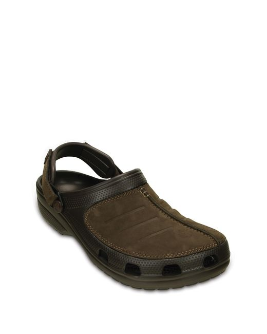 Crocs™ Multicolor Yukon Mesa Leather Paneled Clog for men
