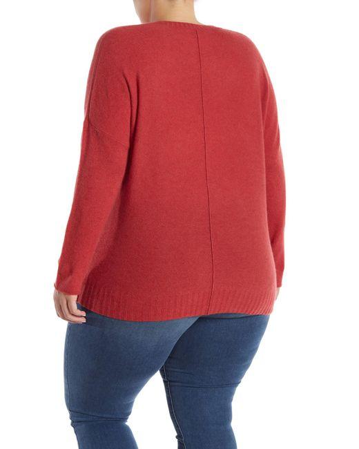 cf785fe6b8b ... Naked Cashmere - Red Skyler V-neck Cashmere Pullover (plus Size) - Lyst