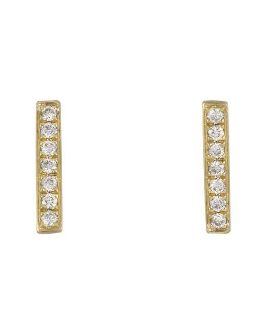 Bony Levy - Metallic 18k Yellow Gold Diamond Bar Earrings - 0.10 Ctw - Lyst