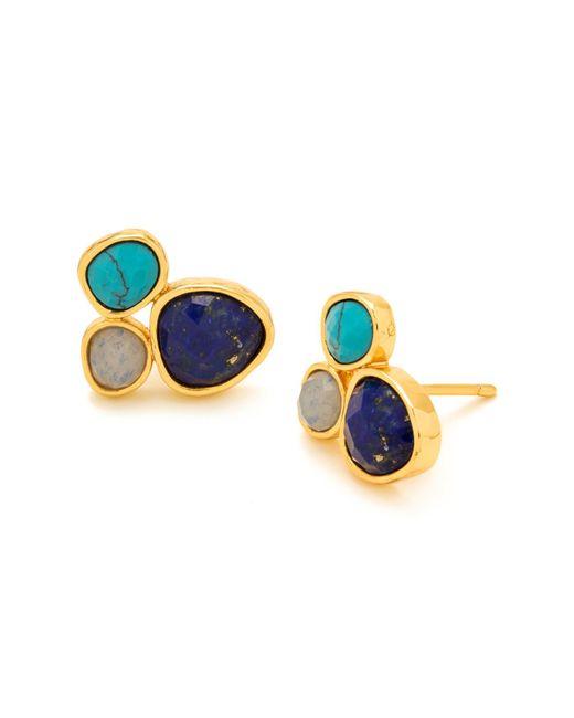 Gorjana | Metallic Lola Gemstone Cluster Earrings | Lyst