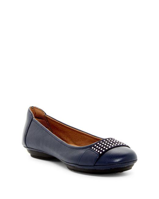 Comfortiva | Blue Sallis Jewel Embellished Flat - Wide Width Available | Lyst
