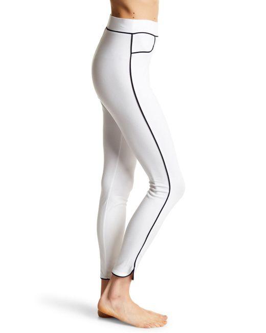 Hue - White Piped High Waist Pone Skimmer Leggings - Lyst