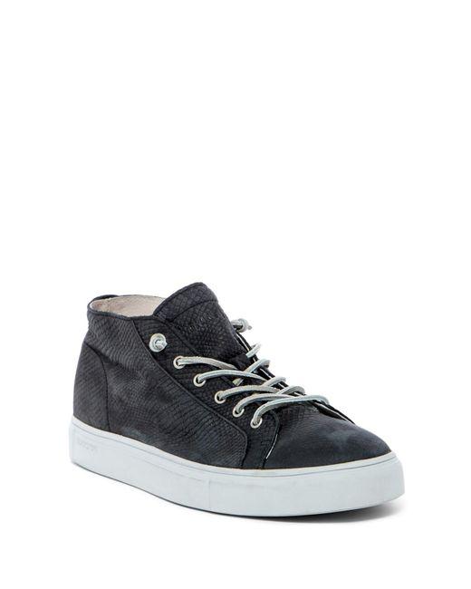Blackstone | Black Snake Embossed Mid Lace-up Sneaker for Men | Lyst