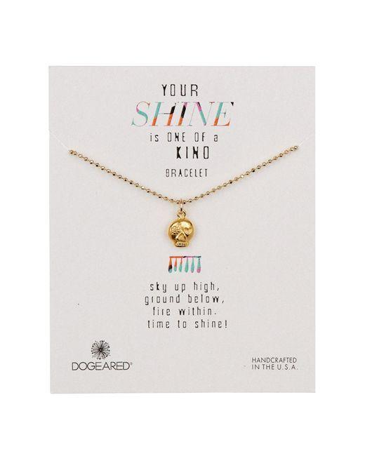 Dogeared - Metallic 14k Gold Vermeil Your Shine Skull Flower Bracelet - Lyst
