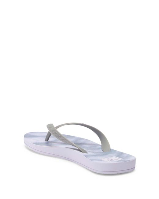 0dbaa1622c3c Lyst - Reef Escape Lux Printed Thong Sandal in Gray - Save 22%