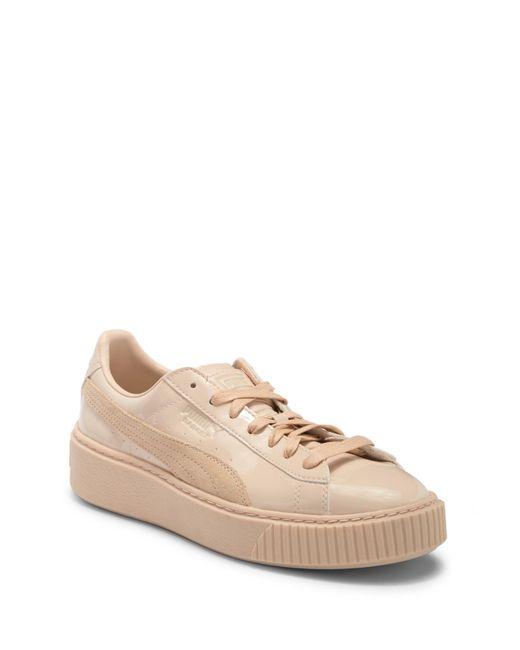 PUMA - Gray Basket Platform Sneaker - Lyst