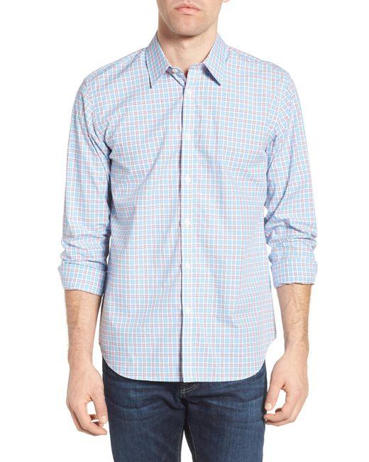 Jeremy Argyle Nyc | Blue Comfort Fit Plaid Sport Shirt for Men | Lyst