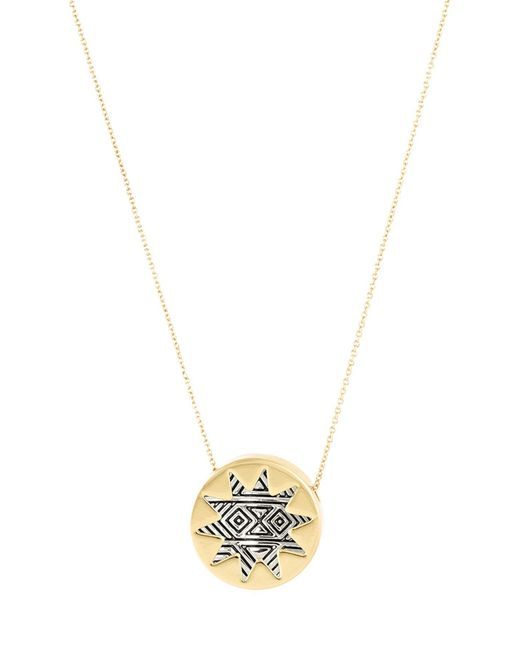 House of Harlow 1960 | Metallic 14k Two-tone Gold Plated Engraved Mini Sunburst Pendant Necklace | Lyst