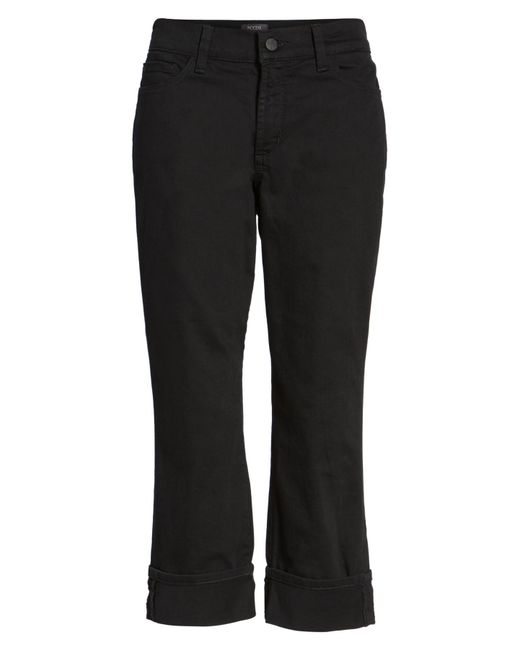 NYDJ - Black Dayla Colored Wide Cuff Capri Jeans - Lyst