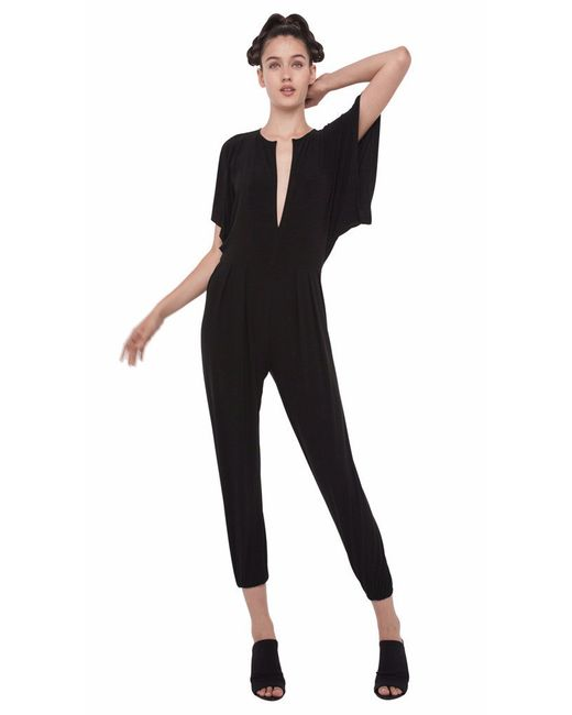 Norma Kamali | Black Rectangle Jog Jumpsuit | Lyst