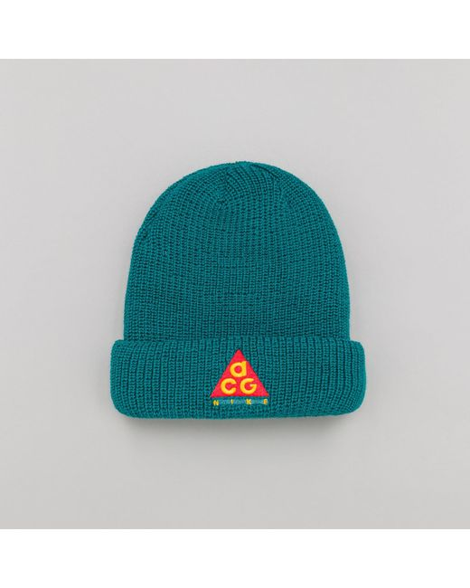 b5284cbb383 Nike - Green Acg Beanie In Geode Teal for Men - Lyst ...
