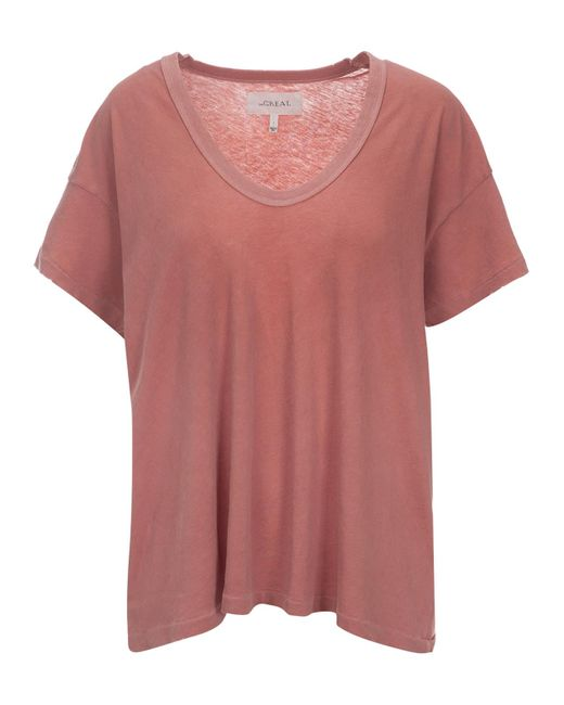 The Great | Pink The U-neck Tee | Lyst