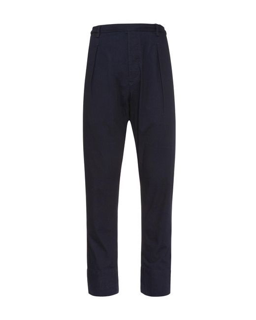 Lemaire - Blue Elasticated Pants for Men - Lyst
