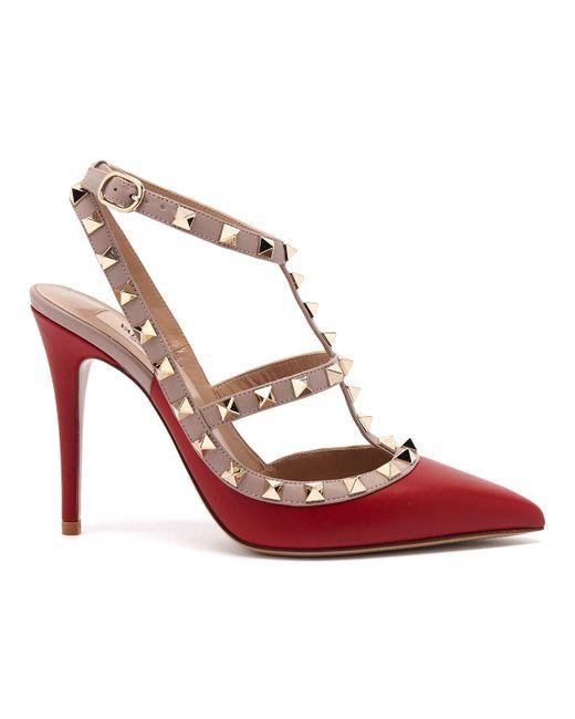Valentino - Metallic Rockstud Studded Leather Pumps - Lyst