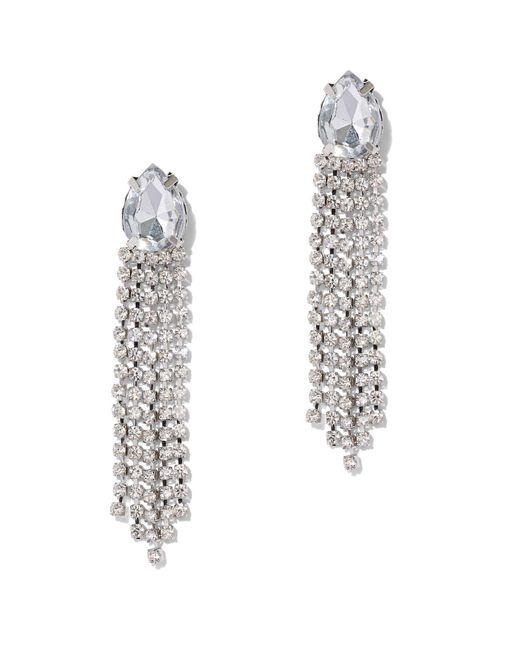 New York & Company - Metallic Silvertone Fringe Drop Earring - Lyst
