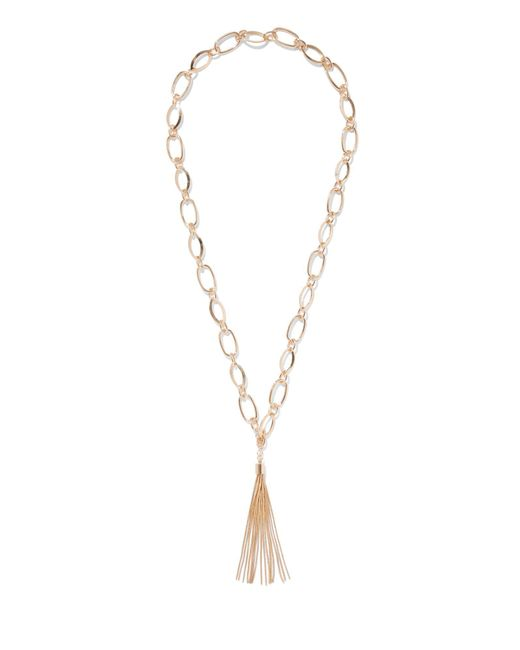 New York & Company - Metallic Goldtone Tassel Pendant Necklace - Lyst