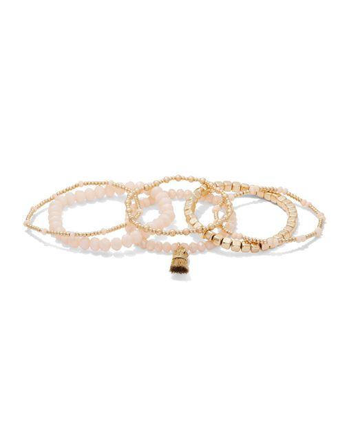 New York & Company - Multicolor 6-piece Beaded Stretch Bracelet Set - Lyst