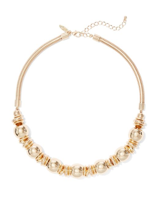 New York & Company - Metallic Goldtone Rondelle Collar Necklace - Lyst